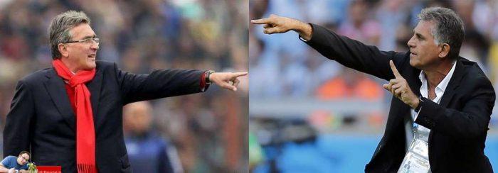 تقابل کیروش و برانکو که منجرب به شکست تیم پرسپولیس از تیم فوتبال سایپا شد-فروردین 97